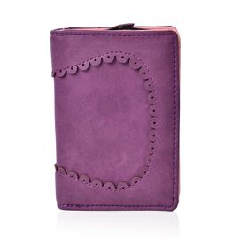 Purple Colour Short Wallet (Size 13x9x3 Cm)