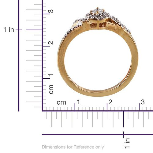 Diamond (Rnd) Ring in 14K Gold Overlay Sterling Silver 0.150 Ct.