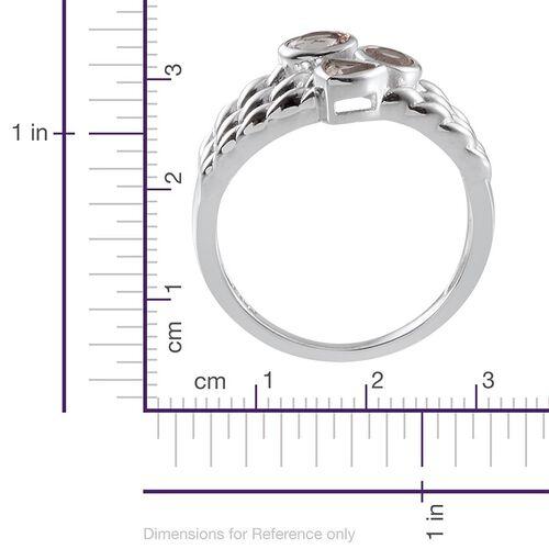 Marropino Morganite Ring in Platinum Overlay Sterling Silver 0.750 Ct.