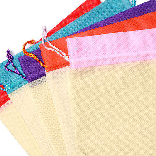 Set of 5 - Colourful Organic Pouch
