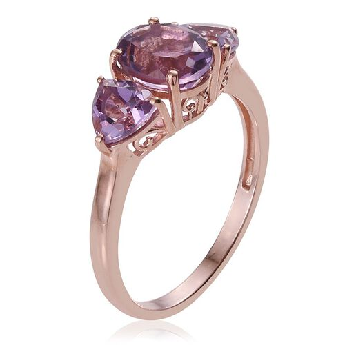 Rose De France Amethyst (Ovl 1.75 Ct) Ring in Rose Gold Overlay Sterling Silver 3.000 Ct.