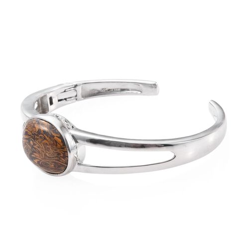Limited Available - Rare Natural Honey Jasper (Ovl 25X 18 mm) Bangle (Size 7.5)  22.000 Ct.