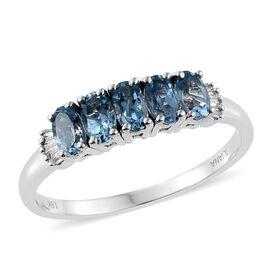 ILIANA 18K W Gold AAA Santa Maria Aquamarine (Ovl), Diamond Ring 1.000 Ct.