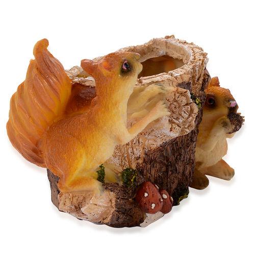 Home Decor - Brown Squirrel Vase