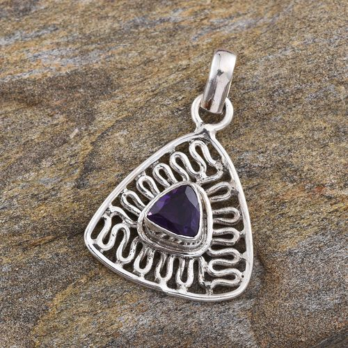 Amethyst (Trl) Pendant in Sterling Silver 0.710 Ct.