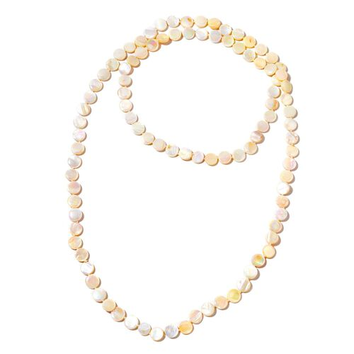 White Shell Beads Necklace (Size 46) 377.500 Ct.