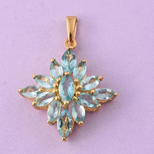 Paraiba Apatite (Mrq) Pendant in 14K Gold Overlay Sterling Silver 2.250 Ct.