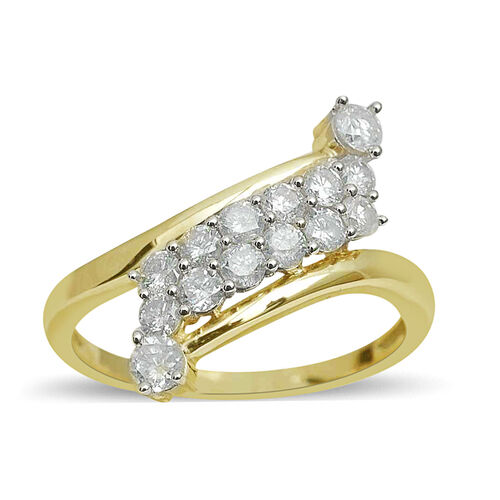 9K Y Gold SGL Certified Diamond (Rnd) (GH-I3) Ring 1.000 Ct.