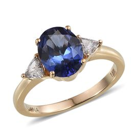 ILIANA 18K Y Gold AAA Tanzanite (Ovl 2.00 Ct), Diamond Ring 2.250 Ct.