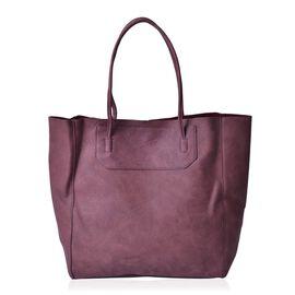 Light Garnet Colour Classic City Shopper Bag (Size 34x31x10.5 Cm)
