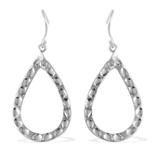 Designer Inspired Sterling Silver Teardrop Hook Earrings, Silver wt 6.38 Gms.