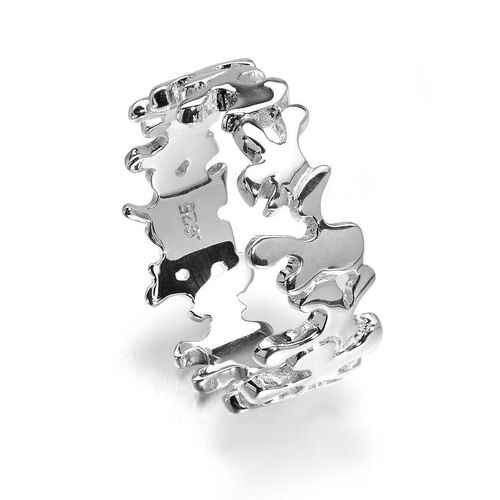 LucyQ Splat Ring in Sterling Silver