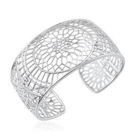 London Heritage Collection: ION Plated Platinum Bond Cuff Bangle (Size 7.5)