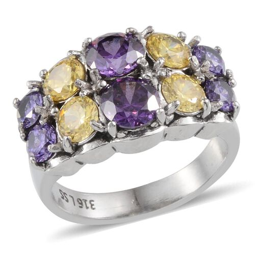 Simulated Tanzanite: AAA Simulated Amethyst (Rnd), Simulated Citrine And
