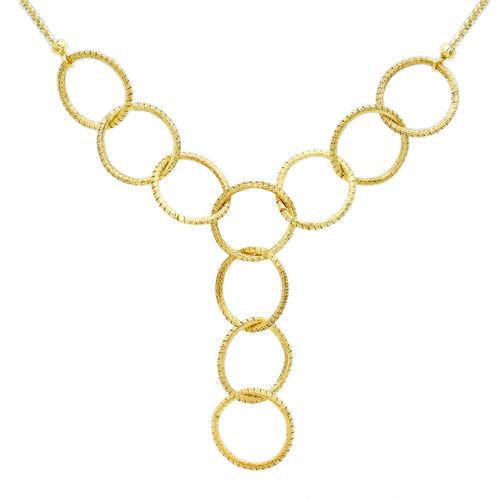 Vicenza Collection - 9K Y Gold Y - Shaped Rings Necklace (Size 18), Gold wt 5.13 Gms.