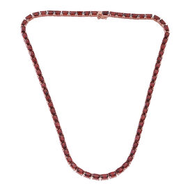 Mozambique Garnet (Cush) Necklace (Size 18) in 14K Rose Gold Overlay Sterling Silver 50.000 Ct.