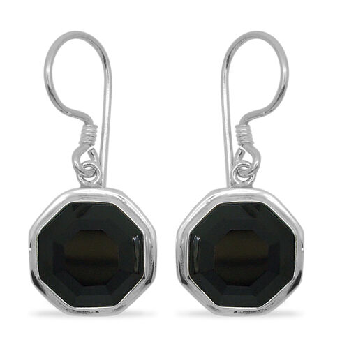 Royal Bali Collection Boi Ploi Black Spinel Lever Back Earrings in Sterling Silver 19.000 Ct.