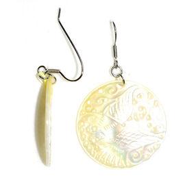 Shell Earrings in Sterling Silver 24.000 Ct.