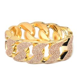 Curb Bangle (Size 7) in Yellow Gold Tone