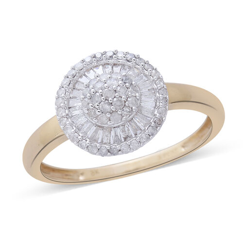 9K Yellow Gold SGL Certified Diamond (Rnd) (I3 G-H) Ring 0.500 Ct.