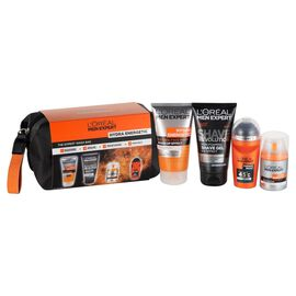 LOREAL Men Expert.  Ice Cool Face Wash (150 ML), Non- Foaming Shave Gel (150 ML), Anti Fatique Moisturiser (50 ML) and Anti Perspirant Deodrant (50 ML)