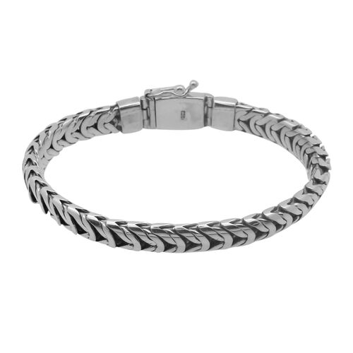 Royal Bali Collection - Brobudur Sterling Silver Bracelet (Size 7.5), Silver wt 47.50 Gms.