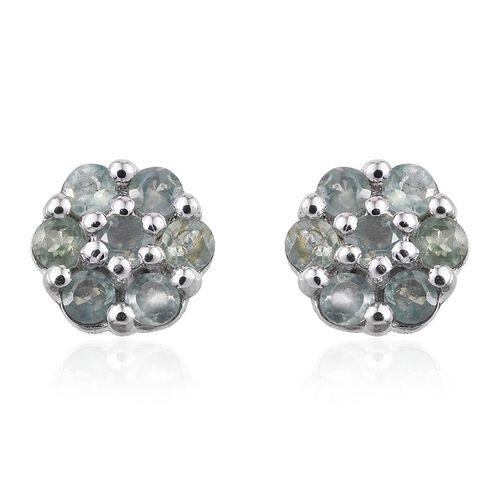 9K W Gold Narsipatnam Alexandrite (Rnd) Floral Stud Earrings (with Push Back) 0.500 Ct.