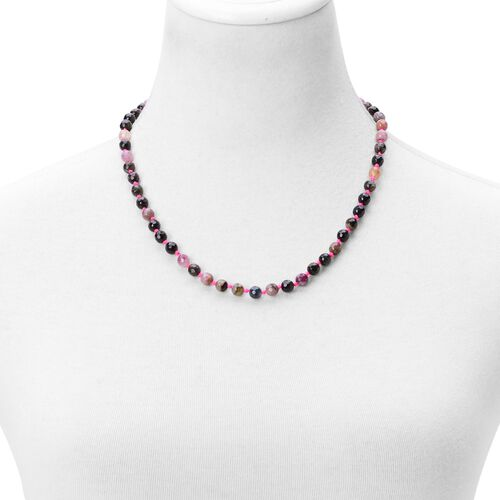 AAA Brazilian Rainbow Tourmaline Necklace (Size 20) in Platinum Overlay Sterling Silver 135.000 Ct.