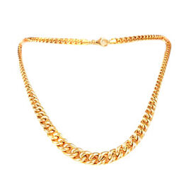 JCK Vegas Collection 9K Y Gold Curb Necklace (Size 20), Gold wt 15.74 Gms.