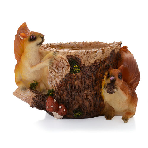 Home Decor - Brown Squirrel Vase