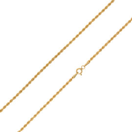 Vicenza Collection 9K Y Gold Rope Necklace  (Size 30), Gold wt 3.00 Gms.