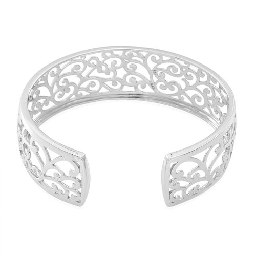 Designer Inspired Sterling Silver Cuff Bangle (Size 7.5), Silver wt 20.50 Gms.