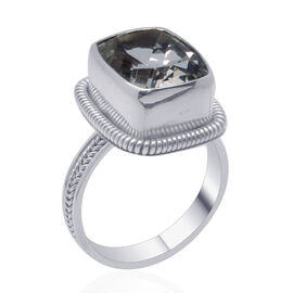 Royal Bali Collection Golconda Diamond Topaz (Cush) Solitaire Ring in Sterling Silver 6.940 Ct.