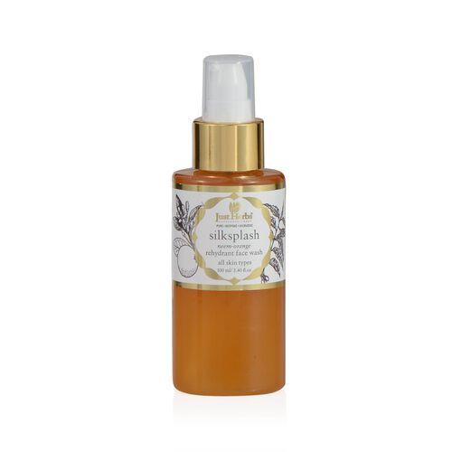 (Option 2) Just Herbs Silksplash (100ml) and Apricot Sparkle Invigorating Skin Radiance Scurb (100g) and Silkskin Indian Ginseng Moisturising Cream (Dry) (50g)