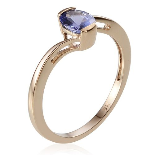 9K Y Gold Tanzanite (Ovl) Solitaire Ring 1.000 Ct.