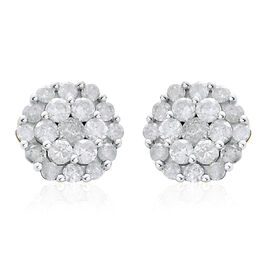 9K Y Gold SGL Certified Diamond (Rnd) (I3/G-H) Stud Earrings (with Push Back) 1.000 Ct.