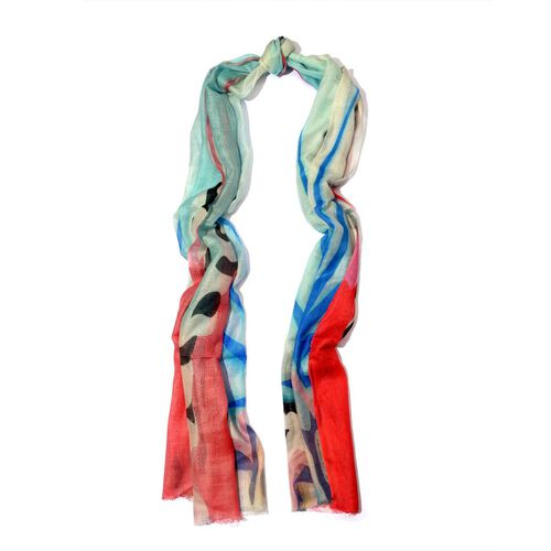 100% Modal Digital Print Multi Colour Scarf (Size 70x180 Cm)