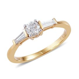 ILIANA 18K Y Gold Diamond (Rnd) Ring 0.500 Ct.