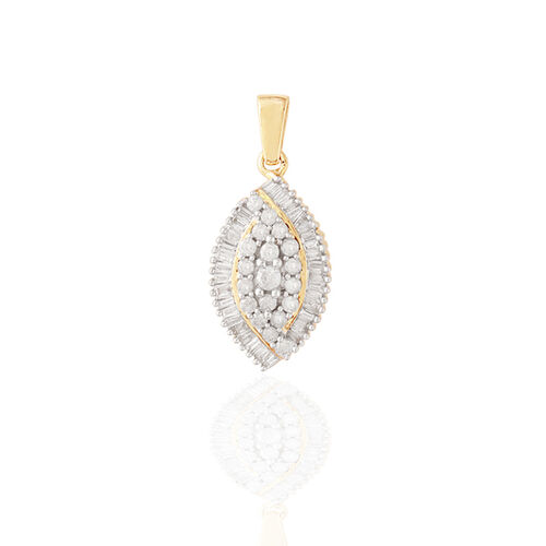 9K Y Gold SGL Certified Diamond (Rnd) (I3/G-H) Pendant 0.500 Ct.