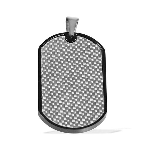BLACKJACK Gents Designer Dog Tag Pendant in Stainless Steel
