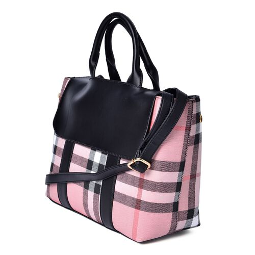 Marylebone Light Pink Tote Bag with Adjustable and Removable Shoulder Strap (Size 33x25x12 Cm)