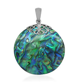 Royal Bali Collection Abalone Shell (Rnd) Pendant in Sterling Silver 30.160 Ct.
