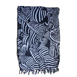 100% Rayon Black and Grey Colour Zebra Pattern Sarong (Size 160x110 Cm)