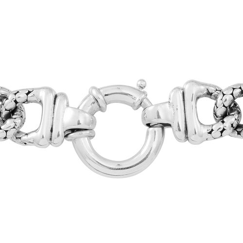Statement Collection Sterling Silver Curb Bracelet (Size 8), Silver wt 22.61 Gms.