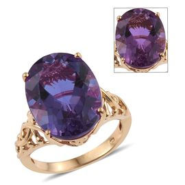 Lavender Alexite (Ovl) Ring in 14K Gold Overlay Sterling Silver 17.000 Ct.