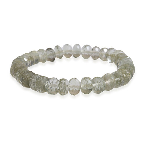 Green Amethyst (Rnd) Stretchable Beads Bracelet (Size 7) 100.000 Ct.