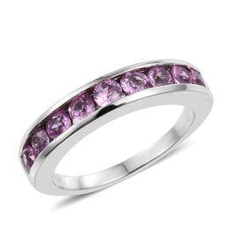 RHAPSODY 950 Platinum 1 Carat AAAA Pink Sapphire Half Eternity Band Ring
