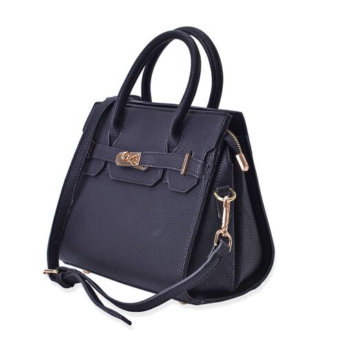 Avenue Black Colour Crossbody Bag with Adjustable and Removable Shoulder Strap (Size 24x20x12 Cm)
