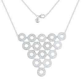 RACHEL GALLEY Sterling Silver Enkai Sun Necklace (Size 20), Silver wt 20.24 Gms.