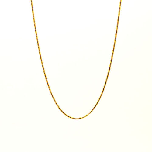 Vicenza Collection 14K Gold Overlay Sterling Silver Snake Chain (Size 30)